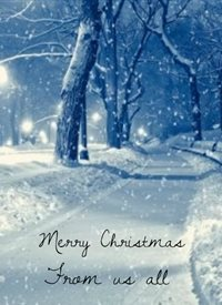 Christmas snow Winter z%a personalised online greeting card