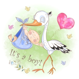 BOY birth baby personalised online greeting card