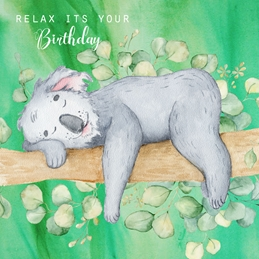 Birthday BIRTHDAY KOALA animals personalised online greeting card