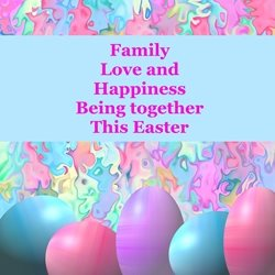 Easter easter, for-him, for-her, purple, blue, eggs, family, personalised online greeting card