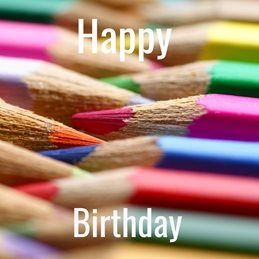 Birthday Crayons pencils Colour personalised online greeting card