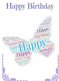 Birthday butterfly,  personalised online greeting card