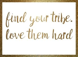 General find your tribe love them hard quote team raluca curcan made with love greeting gold glitter landscape z%a personalised online greeting card