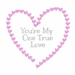 Valentines Love True Love Valentines personalised online greeting card
