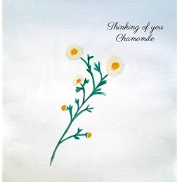 General thinking watercolours herbs flowers tea friendship for-her personalised online greeting card