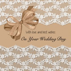 wedding  White Lace, Rustic, Vintage,  z%a personalised online greeting card
