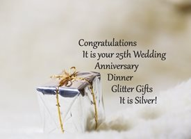 Anniversary for-him, for-her, silver, celebrate, joy, uplifting, gift personalised online greeting card