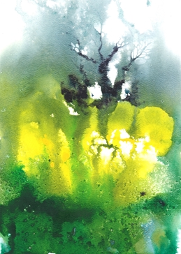 Green, yellow, tree, forest, woodland, spring, springtime, bright, vivid personalised online greeting card