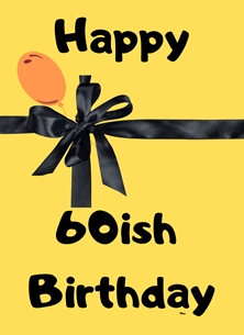 birthday Ribbon,Balloon, personalised online greeting card
