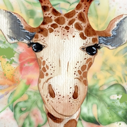 Giraffe Blank Card - Any Occasion