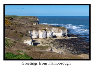 Photography general Photography, photographic, Yorkshire, local interest, Coast, sea, cliffs, flamborough, headland personalised online greeting card