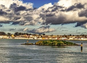 photography andbc, Ards, Portaferry, Strangford, lough, coast, seaside, dramatic, sky, inspiration, happy, joy, optimistic, peaceful, tranquil, serene, warm,  personalised online greeting card