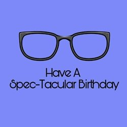 Birthday Specs,  personalised online greeting card
