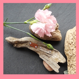 Scattybat Stick Together General Valentines wedding engagement anniversary driftwood words stick personalised online greeting card