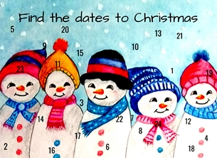 christmas Advent Christmas snowmen winter snow blue red black white for-children  son daughter friend personalised online greeting card