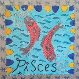 birthday card pisces zodiac sign