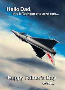 Fathers for-him, dad, aeroplane, airplane, plane, jet, raf personalised online greeting card