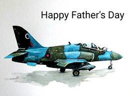 Fathers aeroplane green white blue  for-him personalised online greeting card