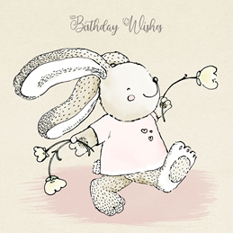 Millymoo Birthday Card for Children Birthday children BIRTHDAY CHILDREN kids bunny rabbit personalised online greeting card