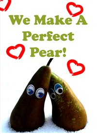 Quirkytags... PERFECT PEAR Valentines   LOVE  CUTE FUNNY  pear z%a personalised online greeting card