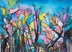 Stained Glass Trees: Manor Farm