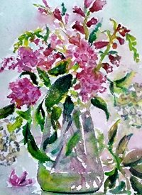 art artwork flowers for-her personalised online greeting card