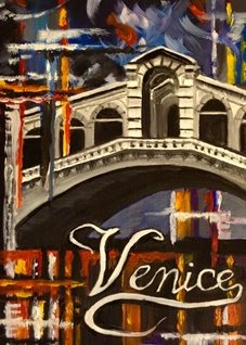 General Art venice Italy carnivals rialto bridges general for-him for-her blank all occasions celebrations him her water red blue orange  personalised online greeting card