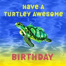 Turtley Awesome Birthday
