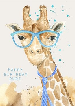 Birthday fun quirky  personalised online greeting card