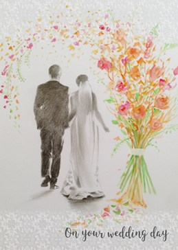 Wildart On your wedding day wedding wedding personalised online greeting card