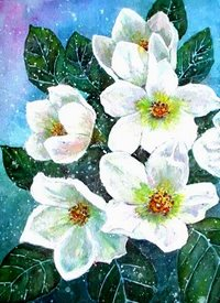 art artwork flowers winter for-her personalised online greeting card