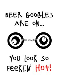 Birthday Beer Googles funny humour  z%a personalised online greeting card