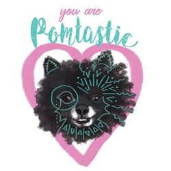 General Pomeranian, dog lover, doggo, pet lover, fantastic work, wonderful, graduation, great job, wonderfully done, beautiful work,quirky, hipster, boho, bohemian, shabby chic, great work,whimsical, silly, fun, hearts,  personalised online greeting card