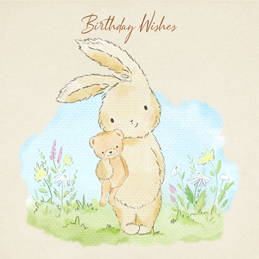 Birthday BIRTHDAY bunny  personalised online greeting card