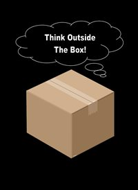General Card board box brown black white Inspirational  z%a personalised online greeting card