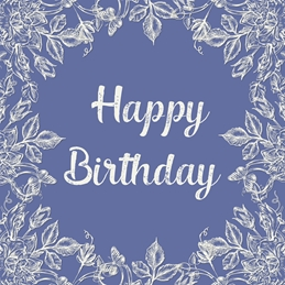 Birthday vintage style, for-him, for-her, blue, white, cream, elegant personalised online greeting card