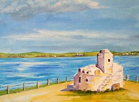 art artwork beach seascape Cornwall  Newquay  for-him for-her personalised online greeting card