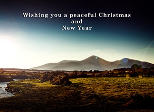 photograpy christmas year Christmas, Xmas, mountains, Mournes, winter, sunlight, landscape, northern ireland personalised online greeting card