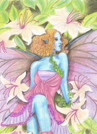 General flowers, fairy, fantasy personalised online greeting card