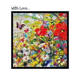 With Love Wildflower Card
