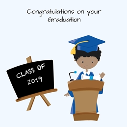 Her Nibs  Congratulations on your Graduation  School Diploma,Chalk Board, personalised online greeting card