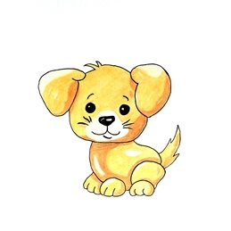 children artwork dog animals pets for-children personalised online greeting card