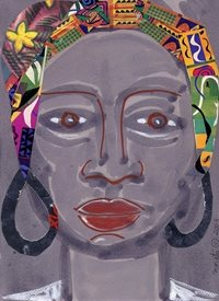 General FACE,ETHNIC,COLLAGE,PAINTING,AFRICA personalised online greeting card