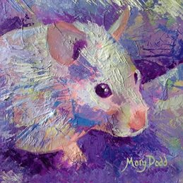 art Hamster painting fun purple crazy animal art card painting pet portrait hamsters personalised online greeting card