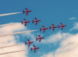 Photography RAF, Red Arrows, jet, fighter, aeroplane, airplane, plane, fathers, grandfather, father's day personalised online greeting card