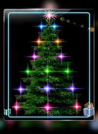 Christmas tree lights z%a personalised online greeting card