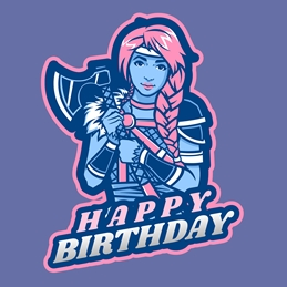 Viking Avatar Birthday Girl