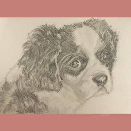 Art Dog puppy personalised online greeting card