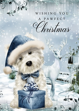 CHRISTMAS WESTIE dogs personalised online greeting card