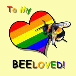 Rainbow beloved bee card #4